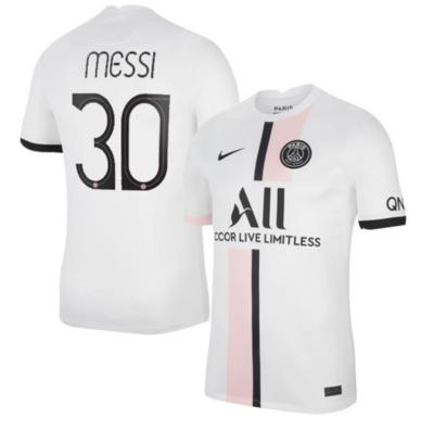 PSG Away White Messi #30 Champion League Jersey