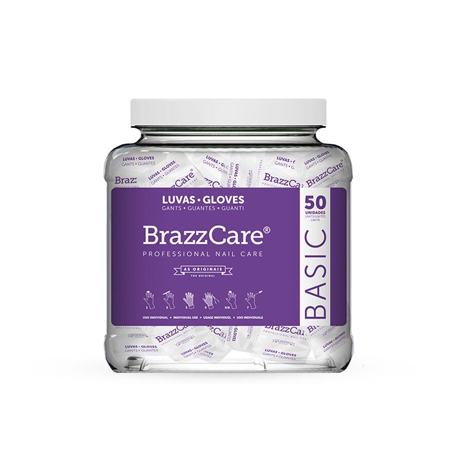 Банка перчаток для Бразильского маникюра Brazzcare 50 уп.