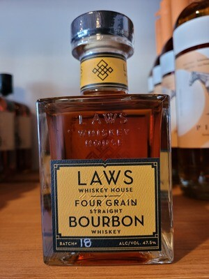 Laws Whiskey Four GRain Straight Bourbon