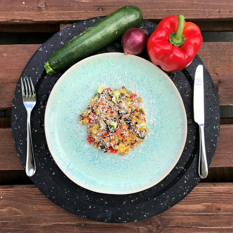 Kichererbsen Gemüse-Salat