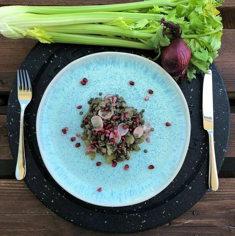 Sommerlicher Linsensalat mit Gemüse (Vegan)