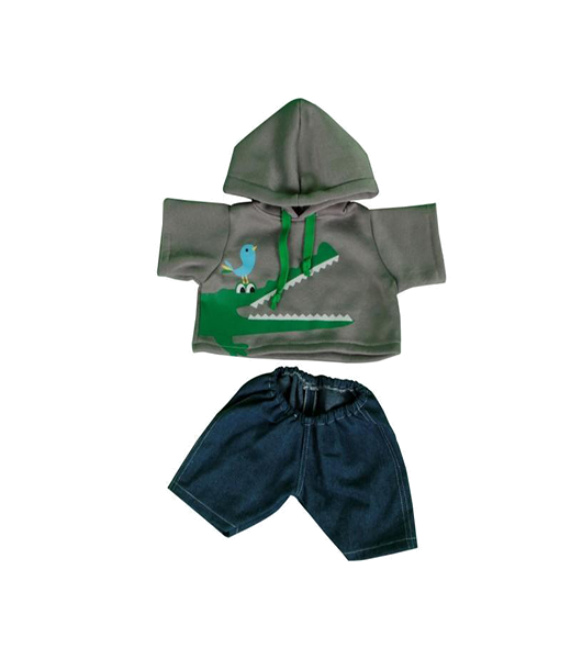 Crocodile Hoodie Outfit - 16 inches
