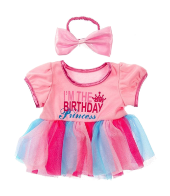 Birthday Princess with Bow Clothing - 16 inches