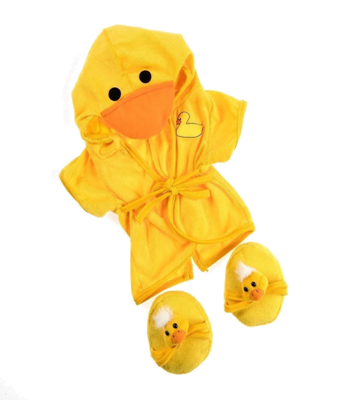 Duck Robe with Slippers Outfit - 16 inches