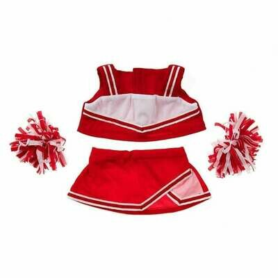 Red & White Cheerleader Outfit - 16 inches