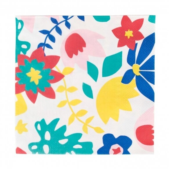 20 Paper napkins - Tropical flowers