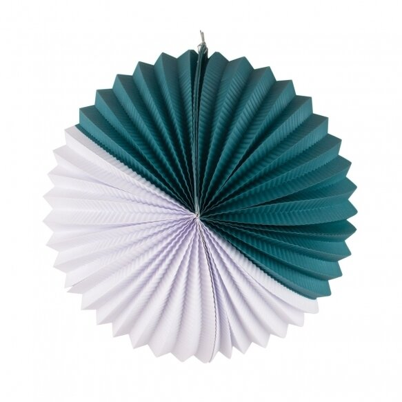 paper lantern - white and teal