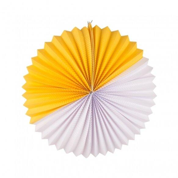 paper lantern - white and yellow
