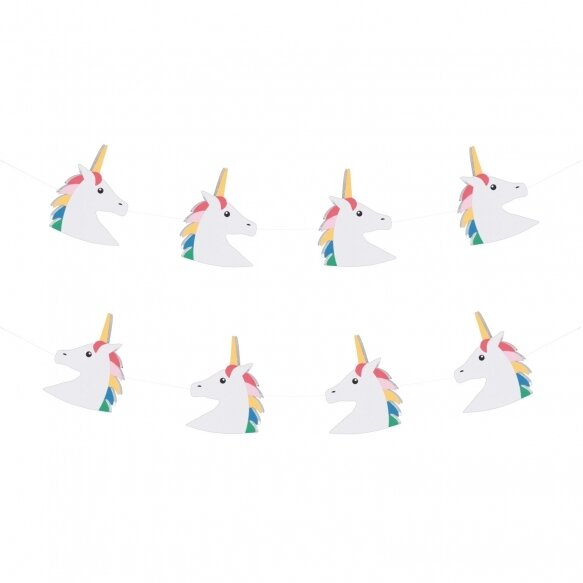 Paper garland - Unicorn