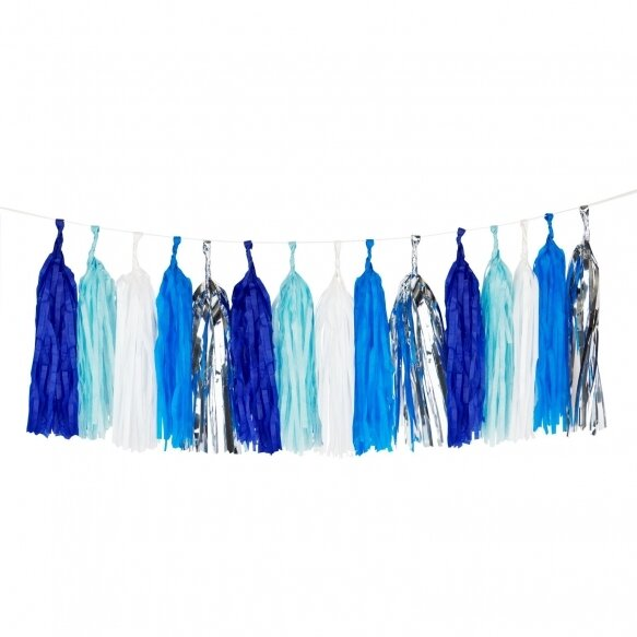 Tassel garland kit - Blue