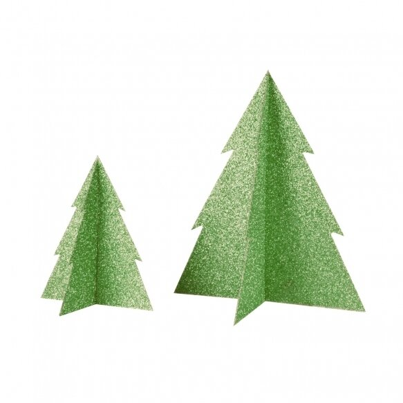 Glitter Christmas Tree - Green (20 cm)