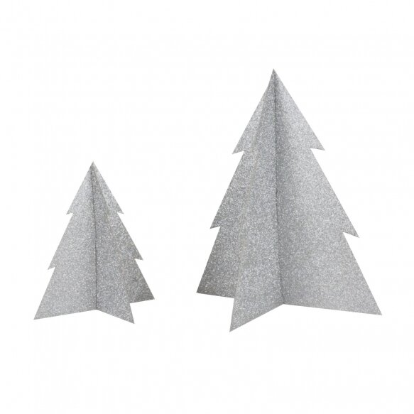 Glitter Christmas Tree - Silver (20cm)