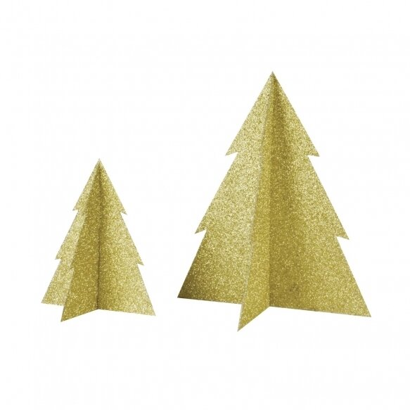 Glitter Christmas Tree - Gold (13 cm)