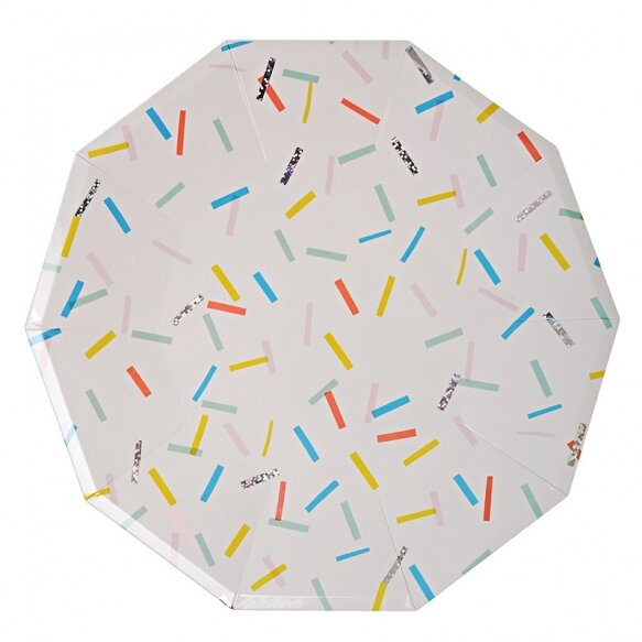 8 Paper Plates - Sprinkles Large