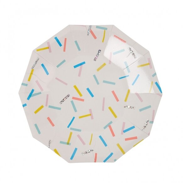 8 Paper Plates - Sprinkles Small