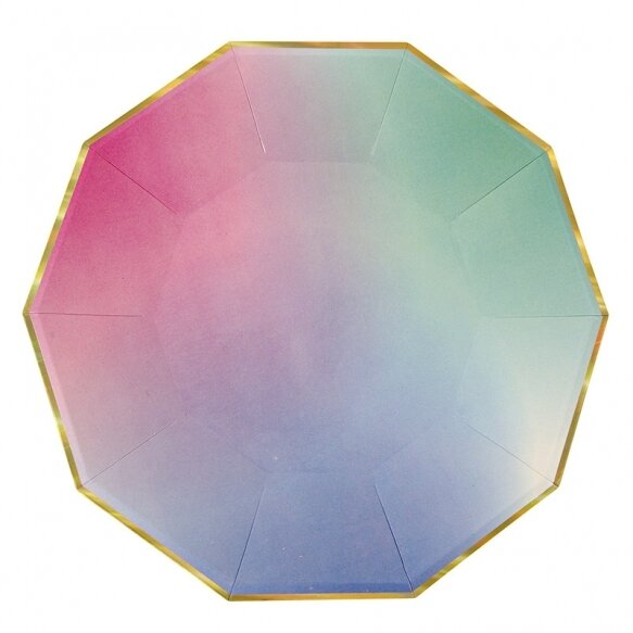 8 Paper Plates - Ombre Large
