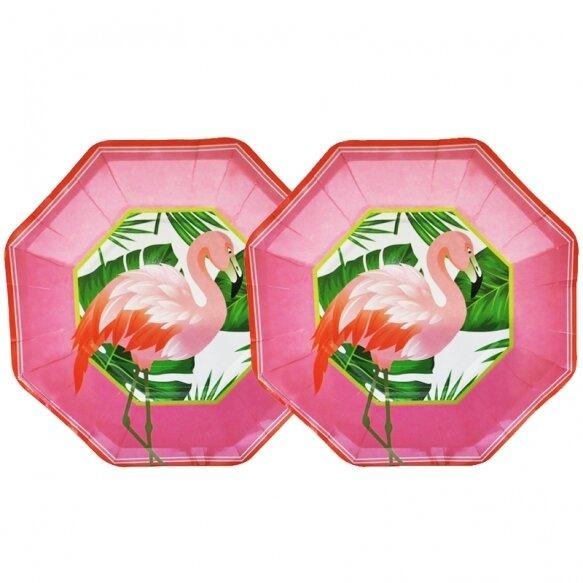 8 Paper Plates - Flamingo Mood Pink