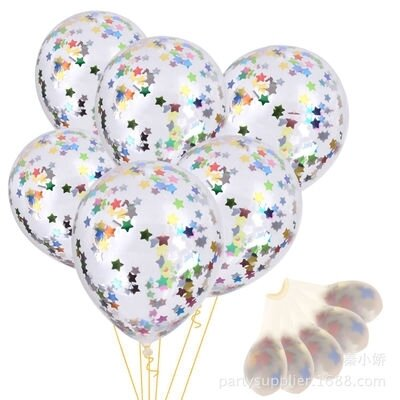 5 Glitter Star Inside Balloon