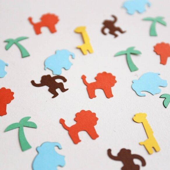 Jungle animal theme Confetti