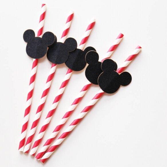 25 Mickey Straws