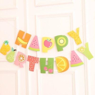 Fruity Happy Birthday Garland