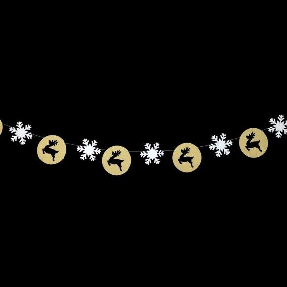 Elks & Snowflake Pieces Garlands