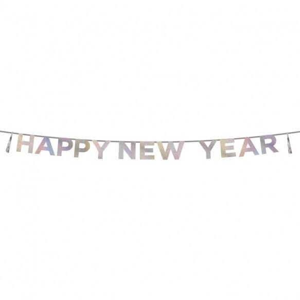 Glitter Iridescent 'Happy New Year' Banner