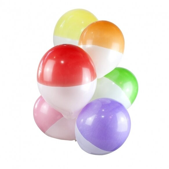 12 Two-toned bright dipped balloons