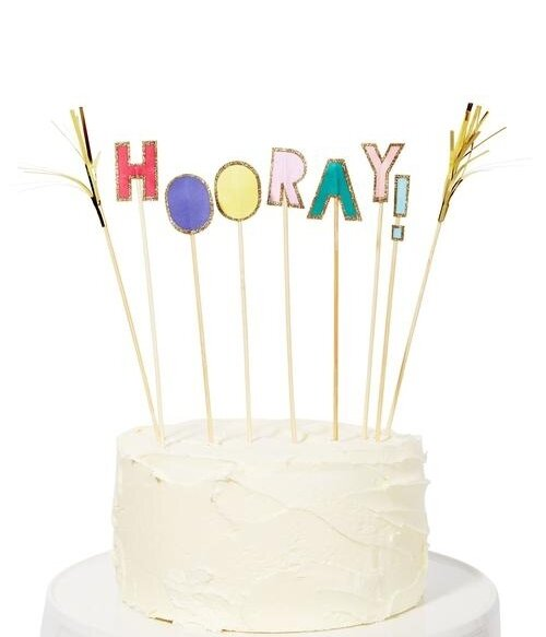 Hooray! Cake Toppers