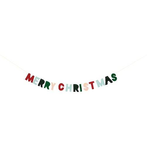 Mini Felt Merry Christmas Garland