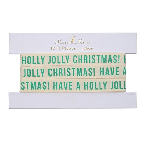 Jolly Christmas Gift Ribbon