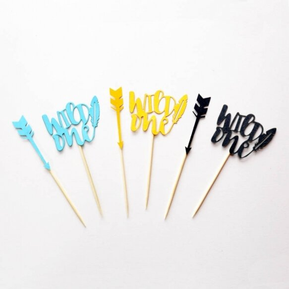 24 Tribal party cake topper