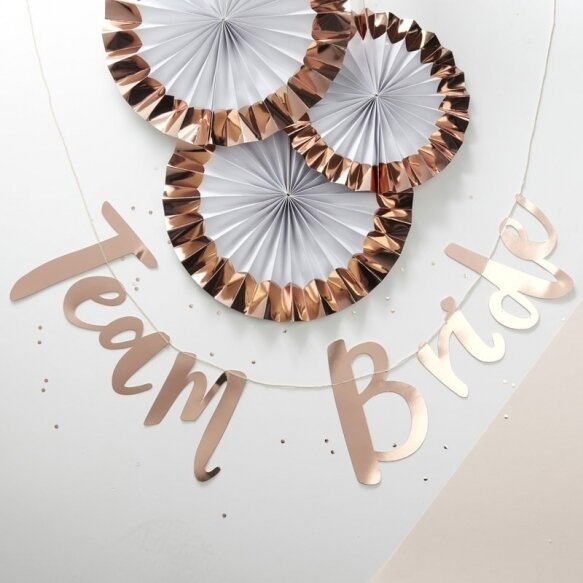 TEAM BRIDE ROSE GOLD PARTY BUNTING