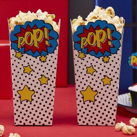 8 POPCORN BOXES COMIC SUPERHERO