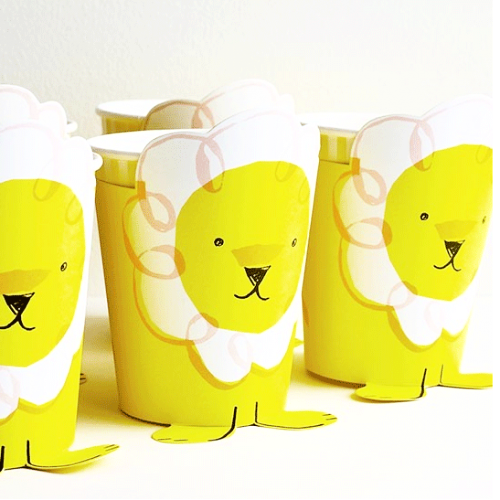 12 Silly Circus Party Cups