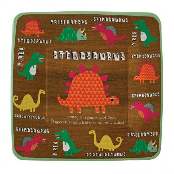 12 Dinosaur Square Party Plates