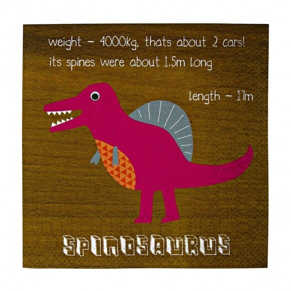 20 Dinosaur Small Party Napkins