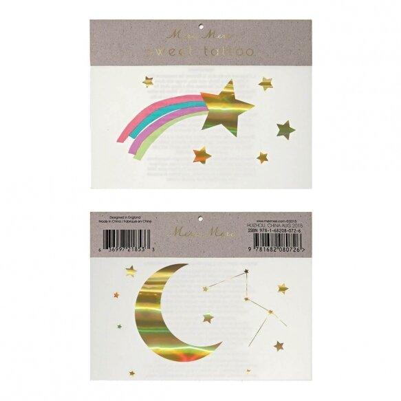 Rainbow Shooting Star Tattoos