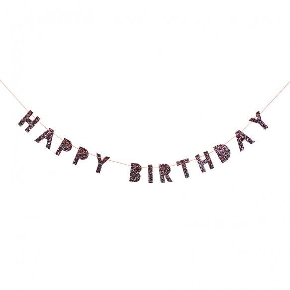 Colored Glitter Birthday Mini Garland