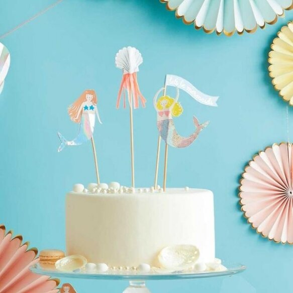 4 Let's Be Mermaids Cake Toppers