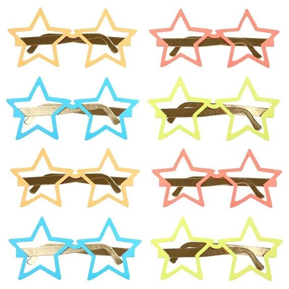 12 Jazzy Star Glasses