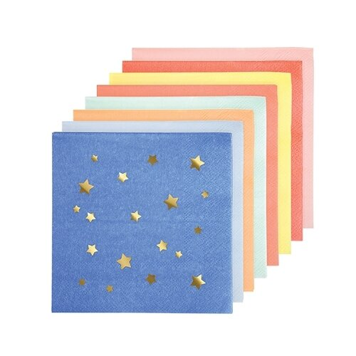 16 Jazzy Star Small Napkins