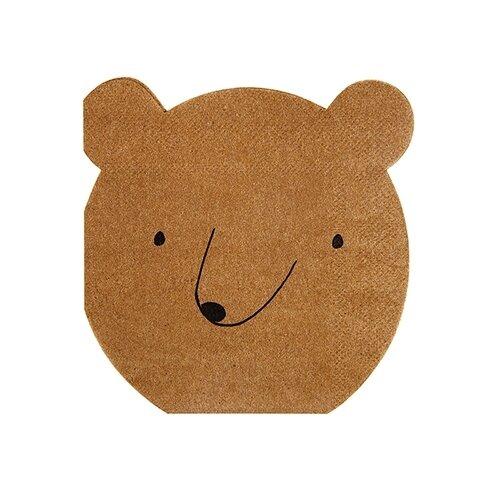 20 Small Bear Napkins