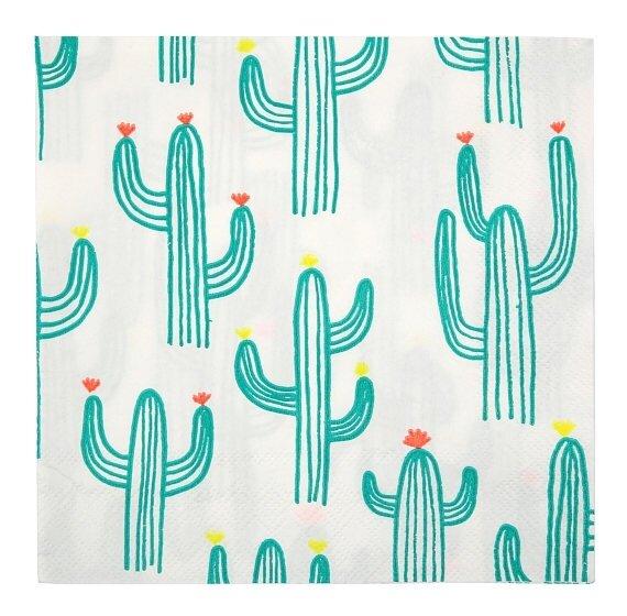 20 Large Cactus Napkins
