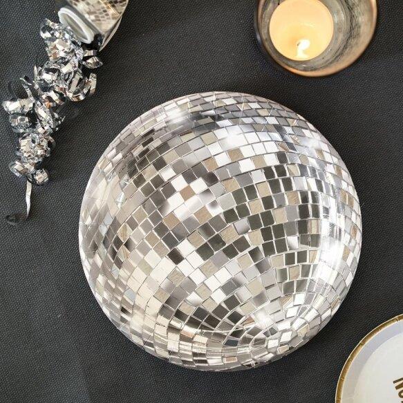12 Glitterati Disco Ball Paper Plates