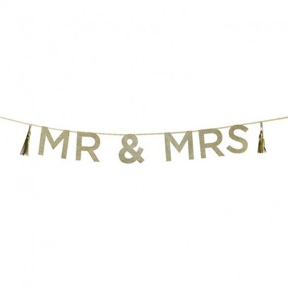 Glitter 'Mr & Mrs' Banner