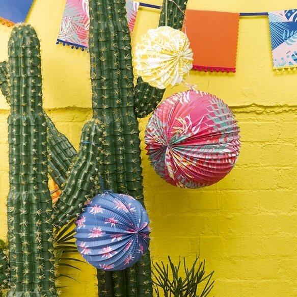 3 Cuban Fiesta Paper Lanterns