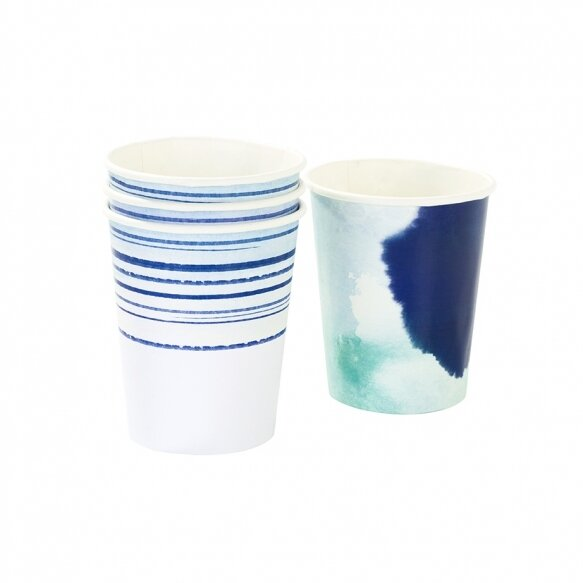 12 Coastal Paper Cups
