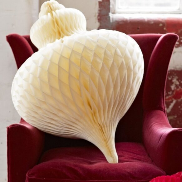 Giant Cream Honeycomb Bauble XXL