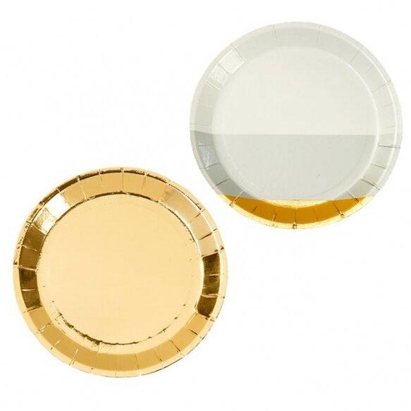 8 Modern Metallic Canape Plates